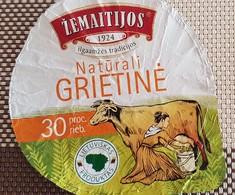 Lithuania Litauen Sour Cream 30%  Cow - Milk Tops (Milk Lids)