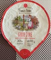 Lithuania Litauen Sour Cream 30% 400 Gr. Geese - Milk Tops (Milk Lids)
