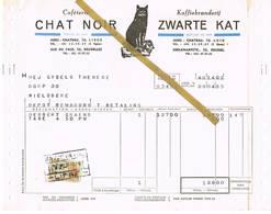Liège / Bruxelles - Luik / Brussel: 1955  Caféterie CHAT NOIR  -  Koffiebranderij ZWARTE KAT - 1950 - ...
