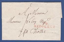 79 VENDEE - LSC - 79 NAPOLEON ( LA ROCHE SUR YON ) Pour Mr LECOQ Négociant à CHOLET /sans Date Référencée De 1809 à 1814 - Postmark Collection (Covers)