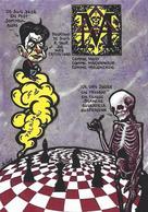 CPM Franc Maçonnerie Jihel Tirage Signé 30 Exemplaires Numérotés Signés Maçonnique Franc Maçon échecs Chess - Philosophy