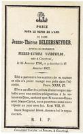 Doodsprentje -Jeanne-Therèse DELEERSNEYDER - Epouse De Pierre Antoine Vandevelde - Courtrai 1786 Et Y Décédée1857 - Godsdienst & Esoterisme