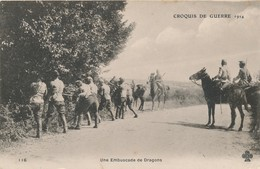 CPA - Thèmes - Militaria - Guerre 1914-18 - Croquis De Guerre 1914 - Une Embuscade De Dragons - Guerre 1914-18