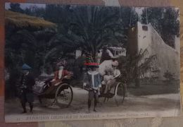 Exposition Coloniale De Marseille : Pousse-pousse Tonkinois - LL 33 - Colonial Exhibitions 1906 - 1922
