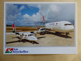 AIRLINE ISSUE / CARTE COMPAGNIE           AIR SEYCHELLES   TWIN OTTER / B 767 - 1946-....: Ere Moderne