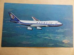AIRLINE ISSUE / CARTE COMPAGNIE           OLYMPIC AIRWAYS  B 747 - 1946-....: Modern Era