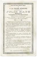 Doodsprentje - Mademoiselle JULIE HAGE - Courtrai 1812 Et Y Décédé 1887 - Membre Congrégation De La Très Sainte Vierge - Religion & Esotericism