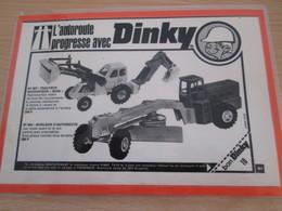 DINKY TOYS : ENGINS DE CHANTIER  Pour  Collectionneurs .. PUBLICITE  ; Format : 1/2 PAGE A4 - Dinky
