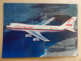 AIRLINE ISSUE / CARTE COMPAGNIE          ROYAL AIR MAROC   B 747 - 1946-....: Ere Moderne