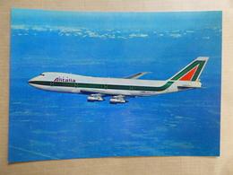 AIRLINE ISSUE / CARTE COMPAGNIE          ALITALIA    B 747 - 1946-....: Modern Era