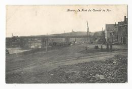 Namur Le Pont Du Chemin De Fer Carte Postale Ancienne Animée Wagon - Namur