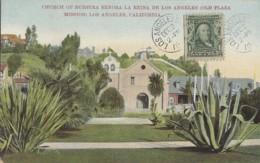 Plantes - Cactus Aloès - Los Angeles California - Church Of Nuestra Senora La Reina - Old Plaza Mission - Postmarked - Cactus