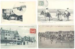 4 Cpa Berk - Plage - Location Des ânes, L'entonnoir, Promenade ...  ( S.3091 ) - Berck