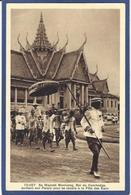 CPA Cambodge Indochine Type Circulé Roi Royauté Royalty - Cambodge