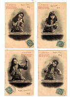 La BOHEMIENNE - Petite Fille Tireuse De Cartes- Lots De 4cartes - Collections, Lots & Séries
