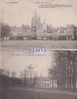 2  CPA  De   LAIGLE (61) - Un COIN PITTORESQUE Du CHAMP De FOIRE - PLACE BOISLANDRY - L'Aigle