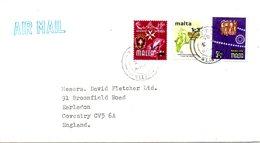 MALTE. N°477 De 1973 Sur Enveloppe Ayant Circulé. Campagne Mondiale Contre La Faim. - Contro La Fame