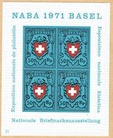 ** BLOC NEUF 1971 C/.S.B.K. Nr:W45. Y&TELLIER Nr:21. MICHEL Nr:BI.21.** - Suisse