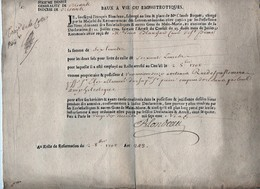 Sixième Denier Généralité D'Orléans Diocèse Baux à Vie Ou Emphitéotiques Au Rolle 1709 - Documents Historiques