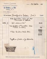 05 VEYNES Hautes ALpes FACTURE 1950 Scierie Caisserie  Caisses à Fruits Casiers  A. CHIALA   A67 - France