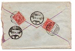 23.4.18 Lettera Espresso Con 6 Annulli Ambulante NUORO - SASSARI  E  GOLFO ARANCI - CAGLIARI PACCHI - 1900-44 Vittorio Emanuele III