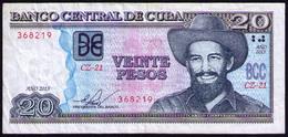 CUBA 20 PESOS 2015 REMPLAZO CZ - Cuba