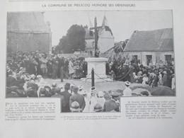1920 LA COMMUNE DE MELICOQ   Honore Ses Défenseurs - Vieux Papiers