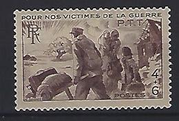 France 1945  Victimes De Guerre  (**) Yvert 737 - France