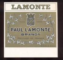 Etiquette De   Brandy   -  Lamonte  -  12 X 12 Cm - Labels