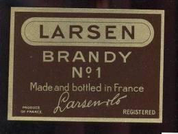Etiquette De   Brandy  N° 1 -  Larsen  -  10.5 X 7.6 Cm - Labels