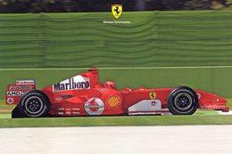 Michael Schumacher  -  Pilote Ferrari Grand Prix  -   Official Ferrari Promo Carte -  CP (signée) - Grand Prix / F1