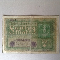 50 Mark 14 Juin 1919 - [ 3] 1918-1933: Weimarrepubliek