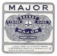 Etiquette De   Brandy    -  Major   -  12 X 12.5 Cm - Labels