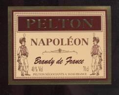 Etiquette De   Brandy  Napoléon  - Pelton - Labels