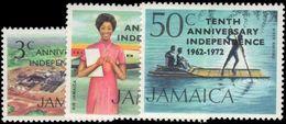 Jamaica 1972 Independence Anniversary Unmounted Mint. - Jamaica (1962-...)