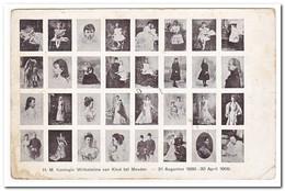 H.M. Koningin Wilhelmina Van Kind Tot Moeder ( Rechts Beneden Knikje ) - Koninklijke Families