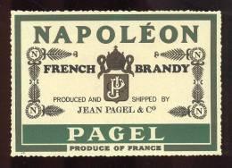 Etiquette De   Brandy  Napoléon  - Pagel - Labels