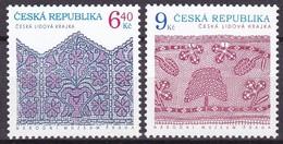 2003, Tschechische Republik, Ceska, 351/52, Volkskunst: Spitze. MNH ** - Tschechische Republik