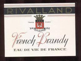 Etiquette De   Brandy   -   Rivalland - Labels