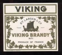 Etiquette De    Brandy  Viking N° 1  -  Larsen - Labels