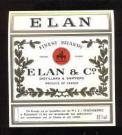 Etiquette De Brandy   -  Elan - Labels