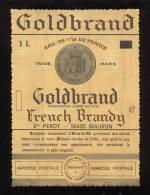 Etiquette De Brandy  Goldbrand  -  Perot   à  Mauron  (56) - Labels