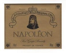 Etiquette De  Brandy  -  Napoléon   -  Delacour - Labels