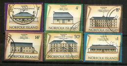 Batiments Historiques De L'île Norfolk (convict Barracks,guard House,etc)  6 Timbres Oblitérés, 1 ère Qualité. Côte 15 € - Ile Norfolk