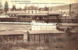 13 - St-Sulpice Laurière - Intérieur De La Gare -ed. B F - France