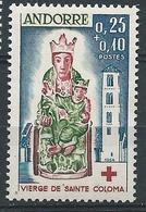 ANDORRE FRANCAIS 1965 - YT N°172 - 25 C. + 10 C. La Vierge Des Remédes De Santa-Coloma - Croix Rouge - Neuf** TTB++ Etat - Unused Stamps
