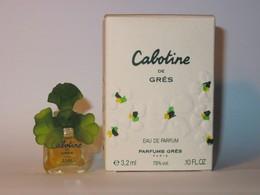 GRES : Cabotine. Eau De Parfum 3,2 Ml, Version 1990, Petite Boite. Parfait état - Miniatures Modernes (à Partir De 1961)