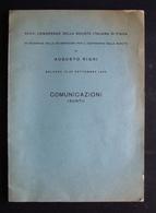 XXXVI CONGRESSO DELLA SOC IT DI FISICA CELEBRAZIONI RIGHI COMUNICAZIONI 1950 - Vecchi Documenti