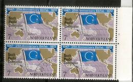 Noumea South Pacific Commission 1972.  Bloc De 4 Oblitérés De L'île Norfolk - Ile Norfolk