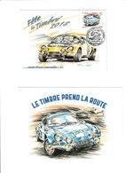 Carte Locale  Fête Du Timbre 2018 St Brice Courcelles Alpine Renault Illustration Bruère + Entier Postal Offert En Plus - France
